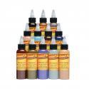 Conjunto De 12 Botellas Tinta Tatuaje Eternal Ink Zombie Colours 30ml (1oz)