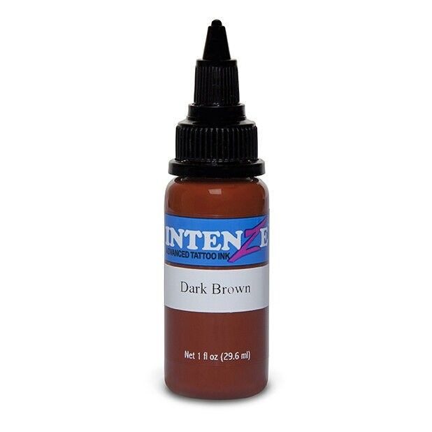 Tinta Tatuaje Intenze Ink Basic Dark Brown 30ml (1oz)