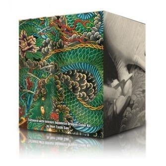 Conjunto De 6 Botellas Tinta Tatuaje Intenze Ink Dragon Colours 30ml (1oz)