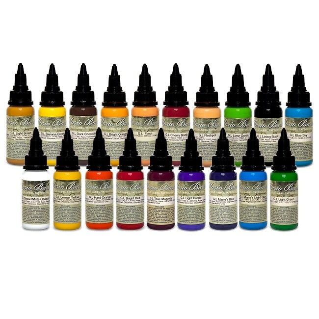 GERMANY - Set of 16 Intenze Ink Mario Barth Gold Label Farbe 30ml (1oz)
