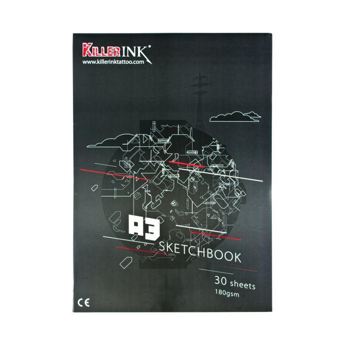 Cuaderno Dibujo Alta Calidad Killer Ink 180GSM A3 O A4 (30 Láminas)