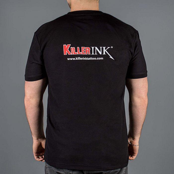 Camiseta Killer Ink Manga Corta Cuello Redondo Negra
