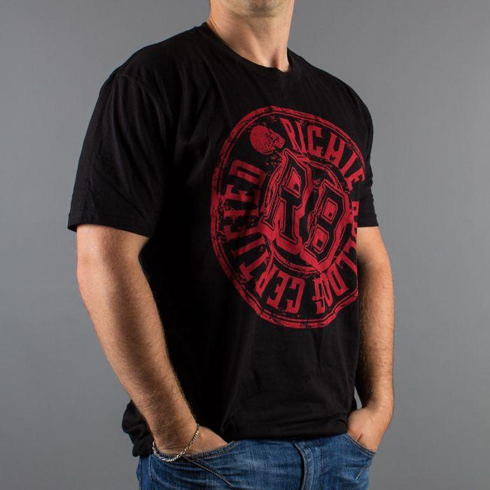 Luxury Hustle Wear 'Richie Bulldog Certified' Camiseta Manga Corta Negra/Roja