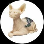 Sphynx Cat & Inkenstein Tatuables De Silicona